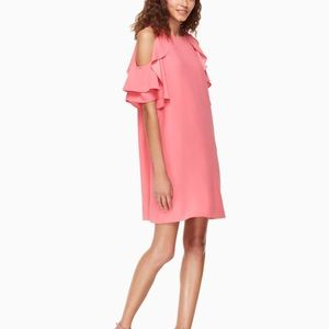 NEW kate spade new york cold-shoulder crepe dress